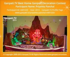 Priyanka Panchal Ganpati Decoration