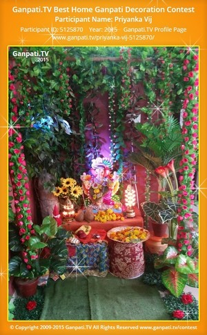 Priyanka Vij Ganpati Decoration