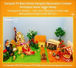 Ragini Mulay Ganpati Decoration
