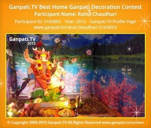 Rahul Chaudhari Ganpati Decoration