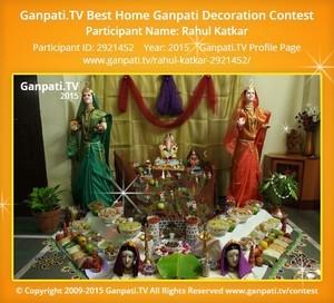 Rahul Katkar Ganpati Decoration
