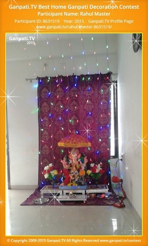 Ganpati decorations using artificial flowers for Artificial flower decoration for ganpati