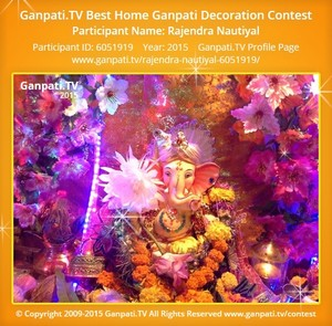 RAJENDRA NAUTIYAL Ganpati Decoration