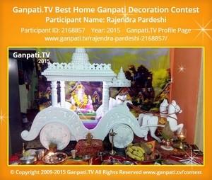 Rajendra Pardeshi Ganpati Decoration