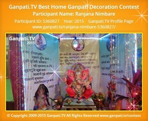 Ranjana Nimbare Ganpati Decoration