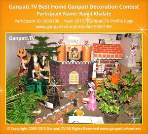 Ranjit Khalate Ganpati Decoration
