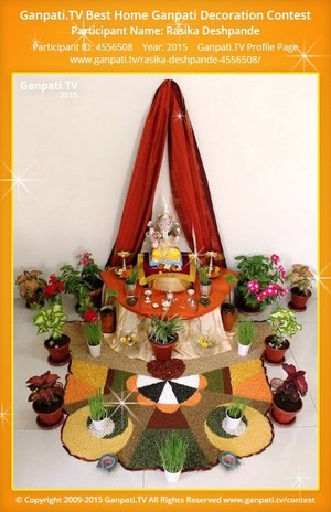 Rasika Deshpande Ganpati Decoration