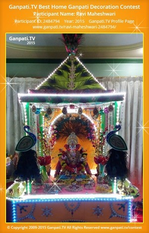 ravi maheshwari Ganpati Decoration