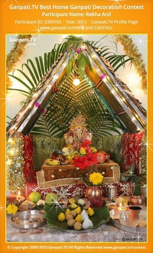Rekha Anil Ganpati Decoration