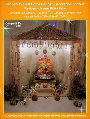 Ritika Firke Ganpati Decoration