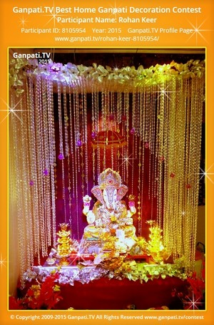 Rohan Keer Ganpati Decoration