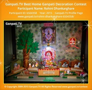 Rohini Dhankarghare Ganpati Decoration