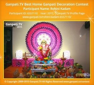 Rohini Kadam Ganpati Decoration