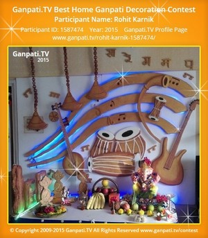 Rohit Karnik Ganpati Decoration