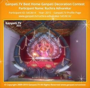 Ruchira Adivarekar Ganpati Decoration