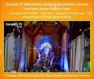 Ruchita Yadav Ganpati Decoration