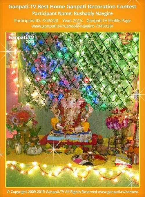 Rushaoly navgire ganpati tv for Artificial flowers decoration for ganpati