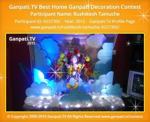 RUSHIKESH TAMUCHE Ganpati Decoration