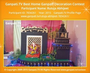Rutuja Abhijeet Ganpati Decoration