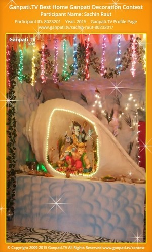 Sachin Raut Ganpati Decoration