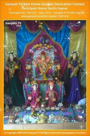 Sachin Sopnar Ganpati Decoration