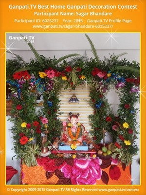 Sagar Bhandare Ganpati Decoration