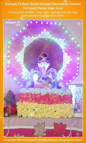 Sagar Goud Ganpati Decoration