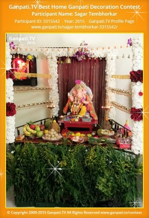 Sagar Tembhorkar Ganpati Decoration