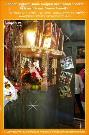 Sameer Umrotkar Ganpati Decoration