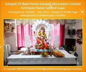 SANDESH GUJAR Ganpati Decoration
