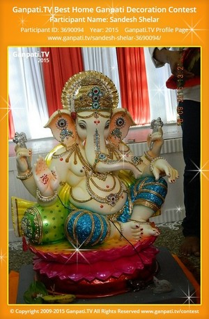 Sandesh Shelar Ganpati Decoration