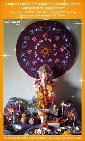 Sangeeta Joshi Ganpati Decoration