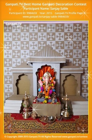 Sanjay Sable Ganpati Decoration