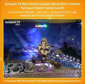 Sanket Gandhi Ganpati Decoration