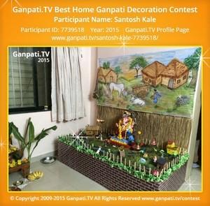 Santosh Kale Ganpati Decoration