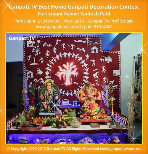 Santosh patil ganpati tv for Background decoration for ganpati
