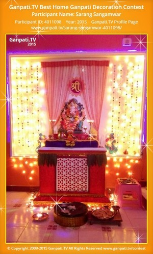 sarang sangamwar Ganpati Decoration