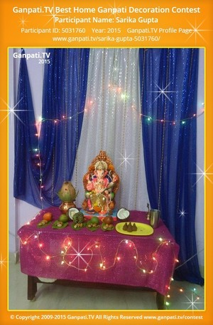 Sarika Gupta Ganpati Decoration
