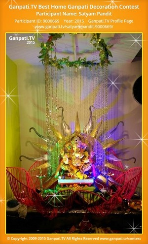 Satyam Pandit Ganpati Decoration