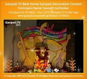 SAURABH GOTHOSKAR Ganpati Decoration