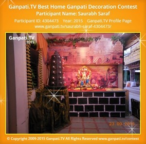 Saurabh Saraf Ganpati Decoration