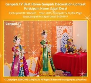 Sayali Desai Ganpati Decoration