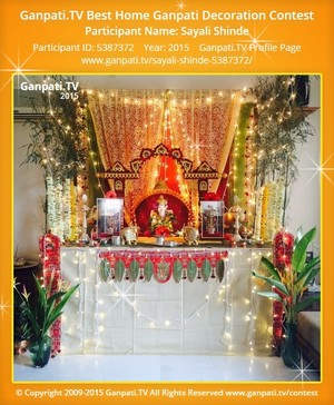 Sayali Shinde Ganpati Decoration