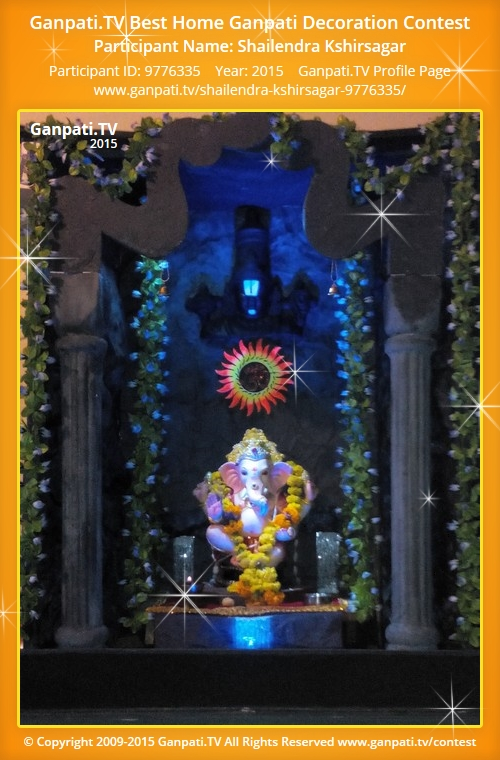 Shailendra kshirsagar ganpati tv for Artificial flower decoration for ganpati