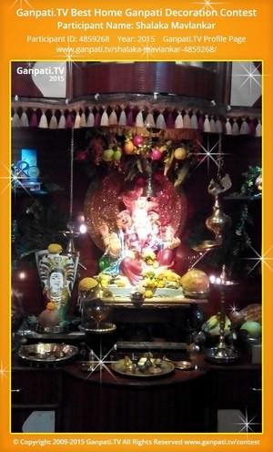 Shalaka Mavlankar Ganpati Decoration