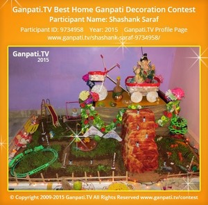 Shashank Saraf Ganpati Decoration