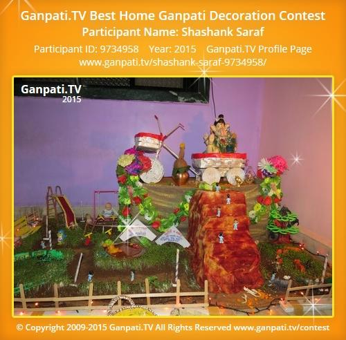 Shashank saraf ganpati tv for Artificial flowers decoration for ganpati at home