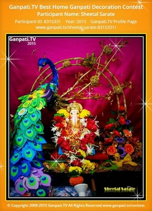 sheetal sarate Ganpati Decoration