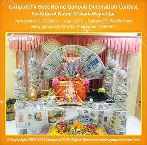 Shivani Majmudar Ganpati Decoration
