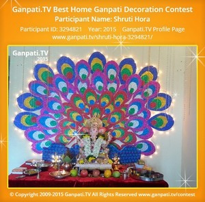Shruti HORA Ganpati Decoration